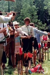 Practising archery, Conservation Fair, Morden Hall Park