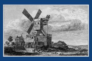 Mill on Wimbledon Common: Sketch by George Cook