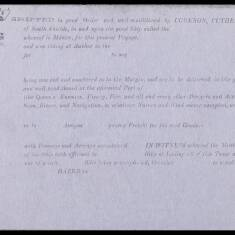 Cookson, Cuthbert and Co Shipping Slip
