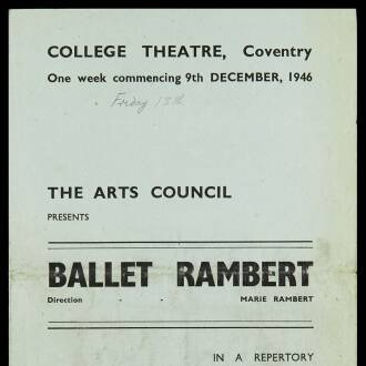 College Theatre, Coventry, December 1946