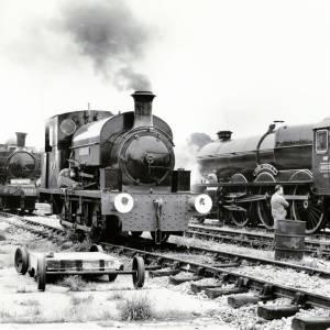 Locomotives in steam at Bulmer's Railway Centre