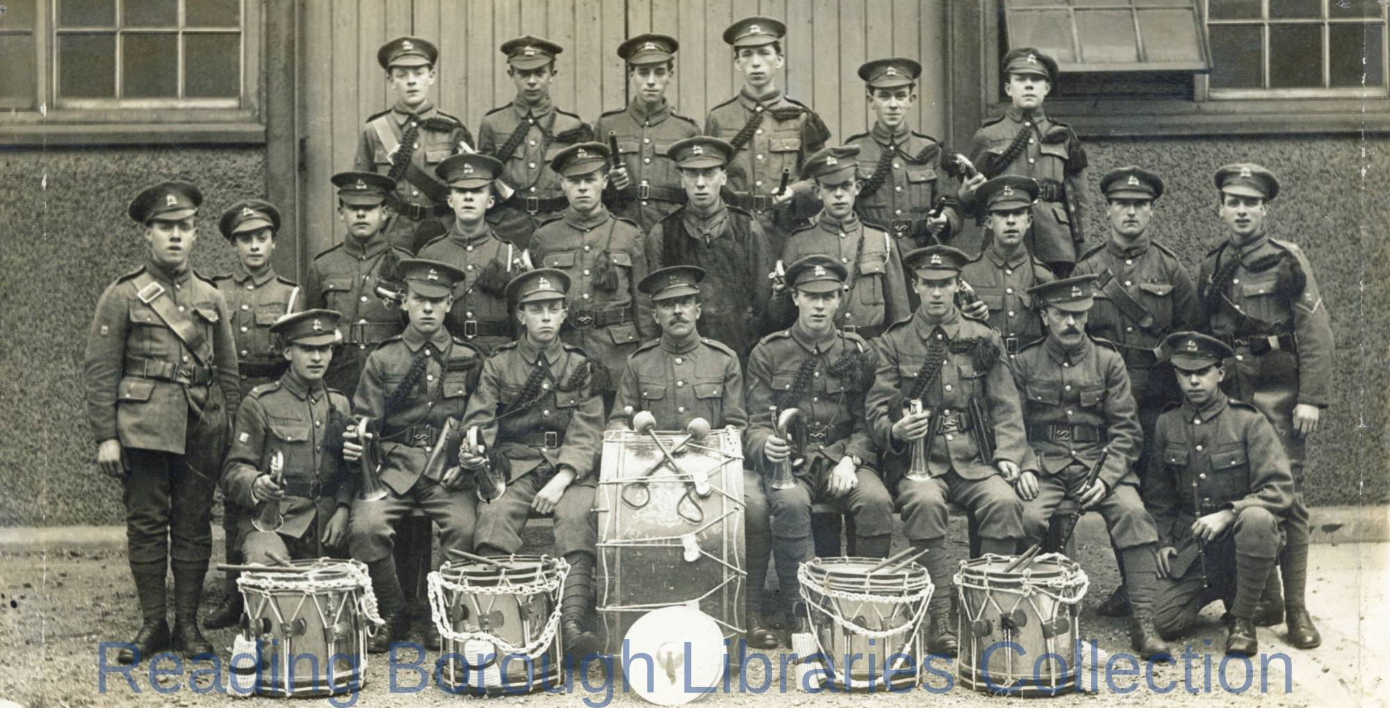 Band of the Berkshire Volunteer Regiment, Likely in Reading, 1918.