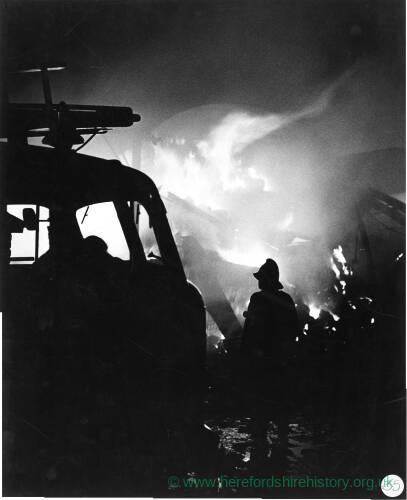 "163 - Firemen attending ""Barn Fire"""