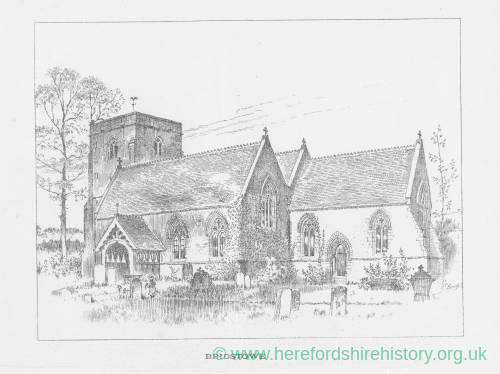 Bridstow Church, Herefordshire, print