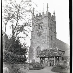 Whitborne Church, Herefordshire, Lychgate and Tower, 1936