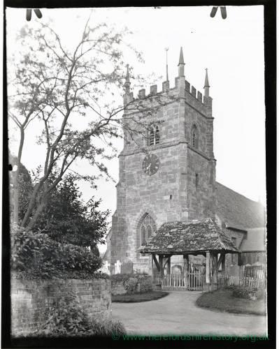 Whitborne Church, Herefordshire, Lychgate and Tower, 1936