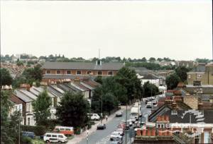 View from the cupola of Southfields Methodist Church