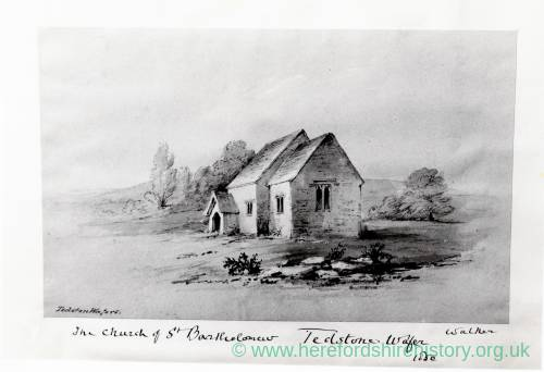 Tedstone Wafre Church, Pilley Collection