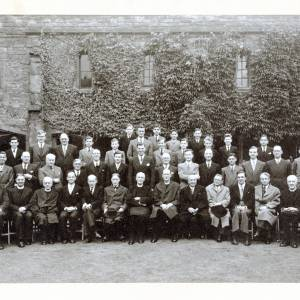 Three Choirs Festival, Cathedral Choir with Clergy, Organists and Officials, Hereford, 1952