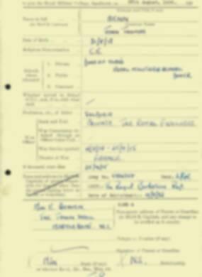 RMC Form 18A Personal Detail Sheets Aug 1934 Intake - page 14