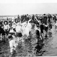 Bathing at Southport Beach