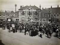 A Tank Bank outside Wimbledon Town Hall