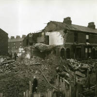 Bedford Place, bomb damage, Blitz