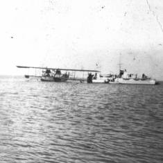 World War 1 Seaplane pictured at sea