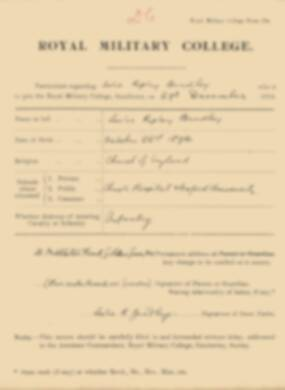 RMC Form 18A Personal Detail Sheets Jan 1915 Intake - page 43