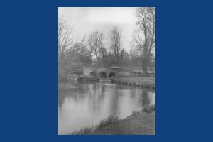 Mitcham Bridge as seen from Fisheries Cottage