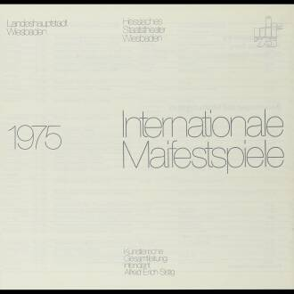 Internationale Maifestspiele, Wiesbadeu, Germany, May 1975
