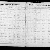 Burial Register 28 - April 1876 to January 1877