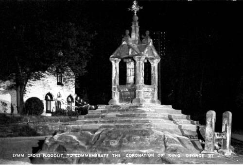 Floodlit Lymm Cross