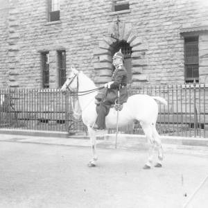 The Chief Constable outside the jail in Gaol Street Hereford.