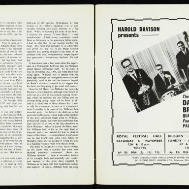 The George Shearing Quartet and Joe Williams, with the Junior Mance Trio, British Tour - September October 1962 008