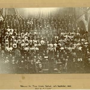 Three Choirs Festival Rehearsal, Hereford, 1900