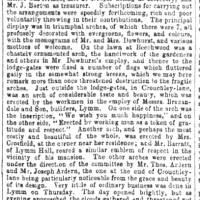 1861, Dewhurst Homecoming