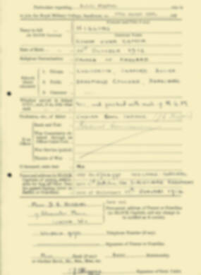 RMC Form 18A Personal Detail Sheets Aug 1935 Intake - page 101
