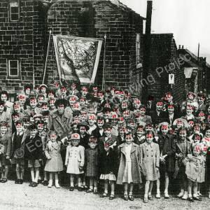 Methodist Whitsuntide Parade, Norfolk Hill Grenoside. c 1948 b