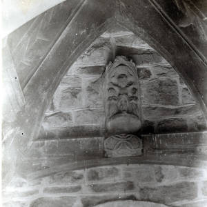 Yarkhill church cross head in porch, 1929