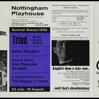 Nottingham Playhouse, July 1968