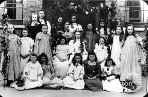 Girls from the British School on May Day