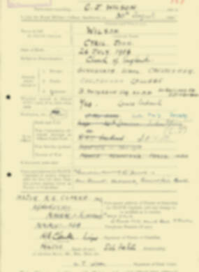 RMC Form 18A Personal Detail Sheets Aug 1935 Intake - page 221