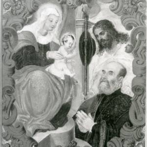G36-213-11 Painting of Virgin & Child with nobleman & pilgrim, in a cartouche.jpg
