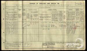 1911 Census Denison Road