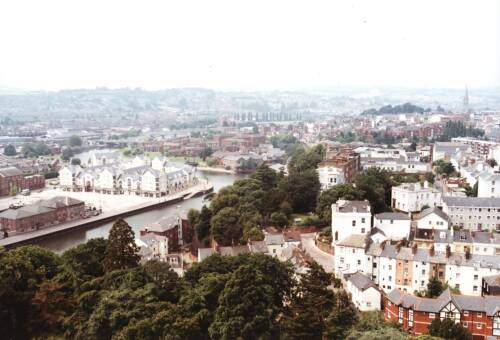 The view from St. Leonard's steeple, 1993, Exeter