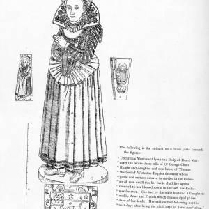 Dame Margaret Chute, d1614, monument details
