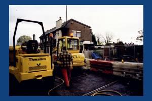 Installation of tramlink near Dundonald Road