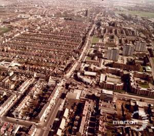 Kingston Road, Merton: Aerial view