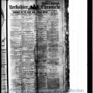 Berkshire Chronicle Reading 1918