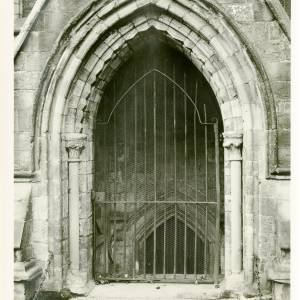 Cathedral, north door of crypt