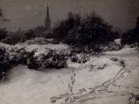 Wimbledon Common: Footsteps in the Snow
