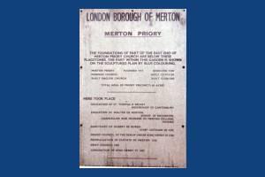 Merton Abbey, Merton Priory notice