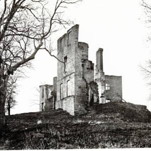 Stapleton Castle, Herefordshire, remains