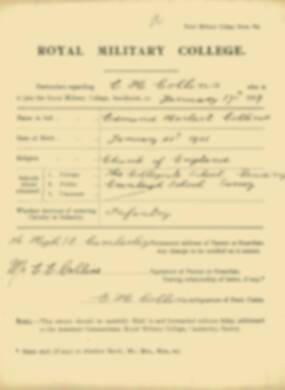 RMC Form 18A Personal Detail Sheets Jan-Sept 1919 - page 12