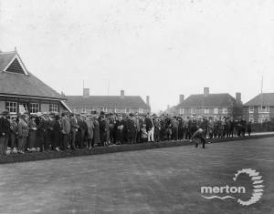 Joseph Hood Recreation Ground: Opening of bowling green