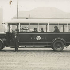 Charabanc for Cleadon Village in Market Place