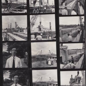 A contact sheet - bridge construction.