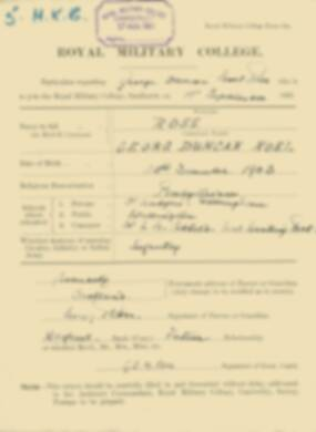 RMC Form 18A Personal Detail Sheets Feb & Sept 1922 Intake - page 122