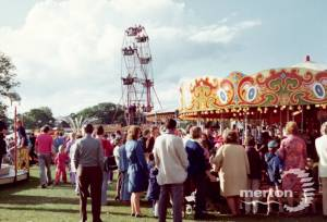 Funfair at the Merton Show, Morden Park